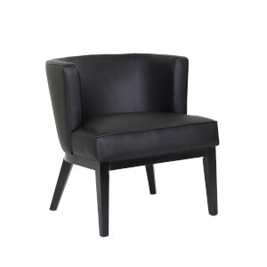 Boss 29-Inch Black Accent Chair