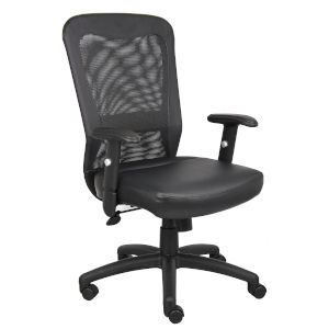 The Boss 27-Inch Black Web Chair