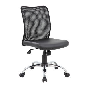 Boss 27-Inch Black Budget Mesh Task Chair