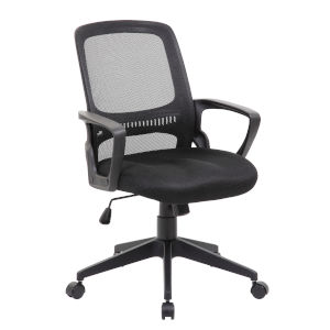 Boss 25-Inch Black Mesh Task Chair
