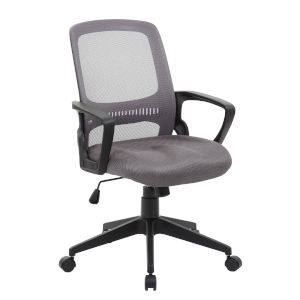 Boss 25-Inch Grey Mesh Task Chair