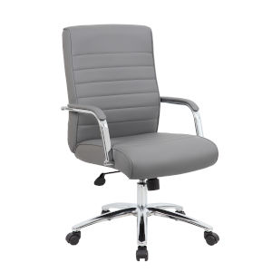 Boss 30-Inch Grey Executive Conference Chair