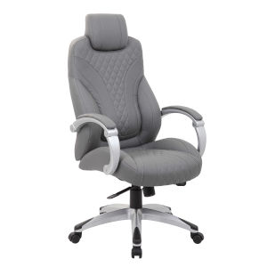 Boss 27-Inch Grey Executive Hinged Arm Chair