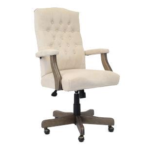 Boss 28-Inch Champagne Velvet Executive Chair