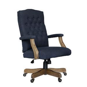 Boss 28-Inch Blue Executive Grade Linen Chair