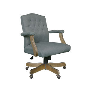 Boss 30-Inch Grey Executive Linen Chair