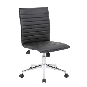 Boss 23-Inch Black Vinyl hospitality Chair