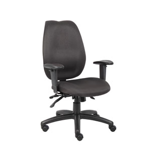 Boss Black High Back Task Chair with Seat Slider
