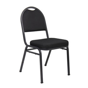 Boss Black Crepe Banquet Chair
