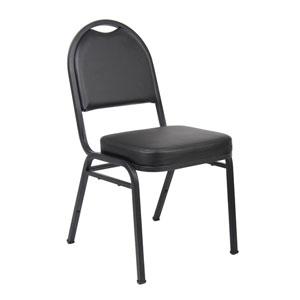 Boss Black Caressoft Banquet Chair