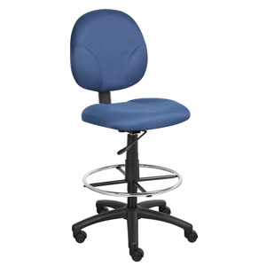 Boss Blue Fabric Drafting Stools with Footring