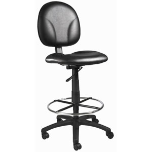 Boss Black Caressoft Drafting Stools with Footring