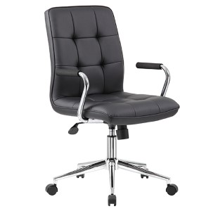 Black Modern Task Chair with Arms