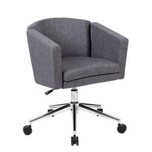 Boss Metro Club Desk Chair - Slate Grey