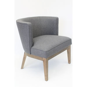 Uttermost Aidrian Charcoal Gray Accent Chair 23305 Bellacor