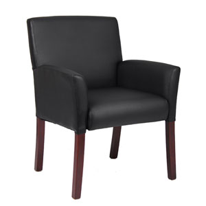 Black Executive Box Arm Chair