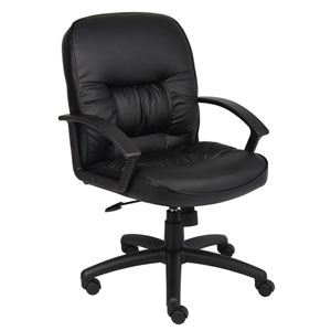 Boss Mid Back LeatherPlus Chair with Knee Tilt