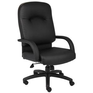 Boss High Back Caressoft Chair In Black with Knee Tilt