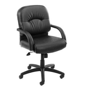 Boss Mid Back Caressoft Chair In Black with Knee Tilt