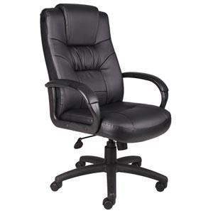 Boss Executive High Back LeatherPlus Chair with Knee Tilt