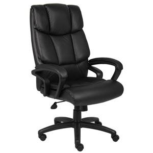Boss Executive Top Grain Leather Chair with Knee Tilt