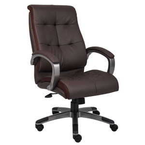 Brown Double Plush Executive Series Chair
