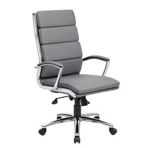 Boss Executive Caressoft Plus™ Chair with Metal Chrome Finish