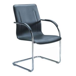 Boss Chrome Frame Black Vinyl Side Chair, Set of 4