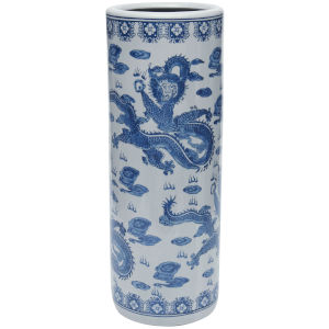 Dragon Blue and White Porcelain Umbrella Stand