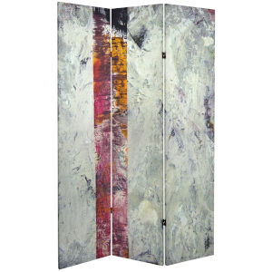 Tall Double Sided November Light White Canvas Room Divider
