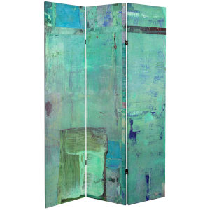 Tall Double Sided Aurora Canvas Room Divider