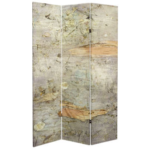 Tall Double Sided Pale Forest Beige Canvas Room Divider