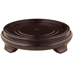 Rosewood Pedestal Stand - (Size 6.5 in. Base Diameter)