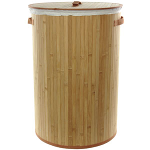 Bamboo Laundry Hamper, Width - 16 Inches