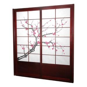 Rosewood 7-Foot Tall Cherry Blossom Shoji Sliding Door Kit