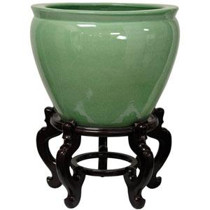 20 Inch Celadon Porcelain Fishbowl