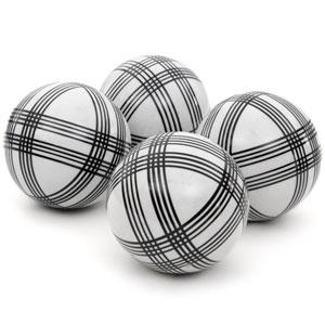 4-inch Black Stripes Porcelain Ball Set