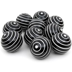 3-inch White Stripes Porcelain Ball Set