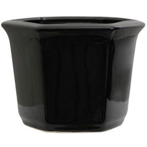 10 Inch Porcelain Flower Pot Black