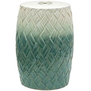 18-inch Carved Woven Design Porcelain Garden Stool