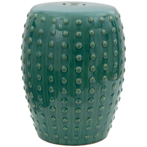 18-inch Blue-Green Porcelain Garden Stool