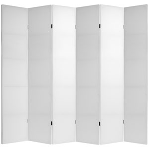 7 ft. Tall Do It Yourself Canvas Room Divider - 6 Panels