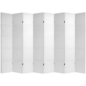 7 ft. Tall Do It Yourself Canvas Room Divider - 8 Panels