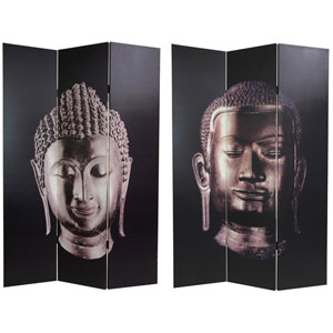 Double Sided Buddha Canvas Room Divider, Width - 48 Inches