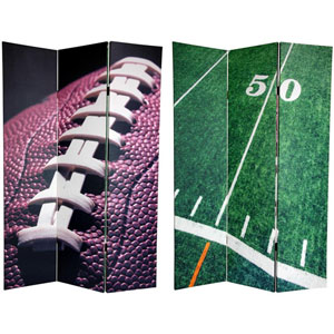 Six Ft. Tall Double Sided Football Canvas Room Divider, Width - 48 Inches