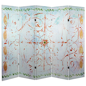 5 ft Tall Winter Peace Canvas Room Divider