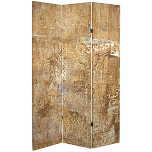 6-Foot Tall Double Sided Sandy Meadow Canvas Room Divider