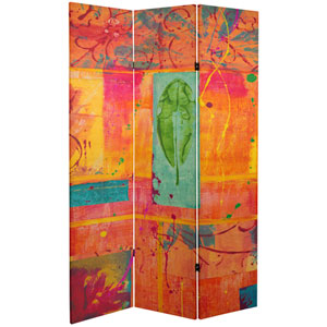 6-Foot Tall Double Sided Tangerine Dream Canvas Room Divider