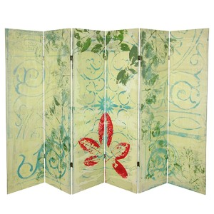 Garden Gate Multi-Colored 5.25 Ft. Canvas Room Divider