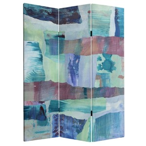 Ocean Dance Multi-Colored 5 Ft. Tall Canvas Room Divider